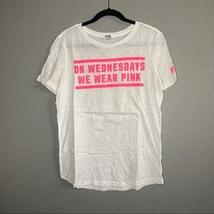 "VS Pink Tee ""On Wednesdays We Wear Pink"""